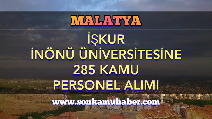 İşkur'dan İnönü Üniversitesi 285 Kamu Personel Alımı