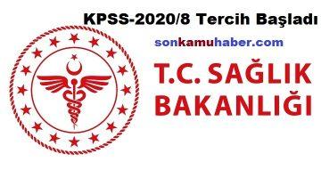 Sağlık Bakanlığı KPSS 3.000 Sözleşmeli Sağlık Personeli alacak (KPSS-2020/8)