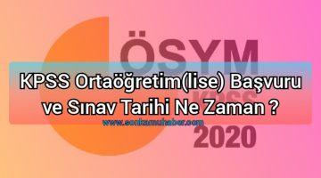 KPSS Ortaöğretim(lise)2020 Başvuru ve Sınav Tarihi Ne Zaman ?