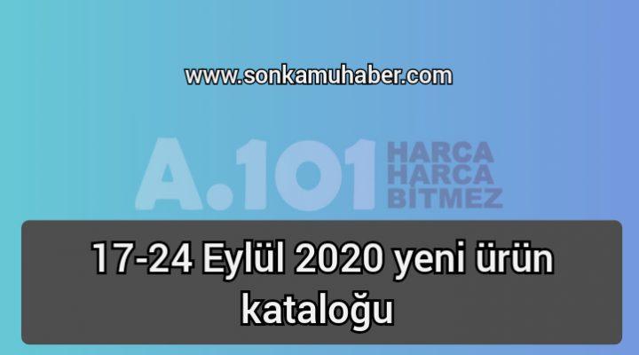 A101; 17 Eylül 2020 yeni ürün kataloğu