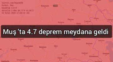 Muş'ta 4.7 deprem meydana geldi