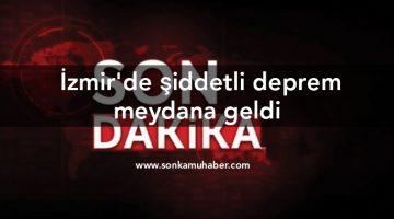 SON DAKİKA : İzmir'de şiddetli deprem