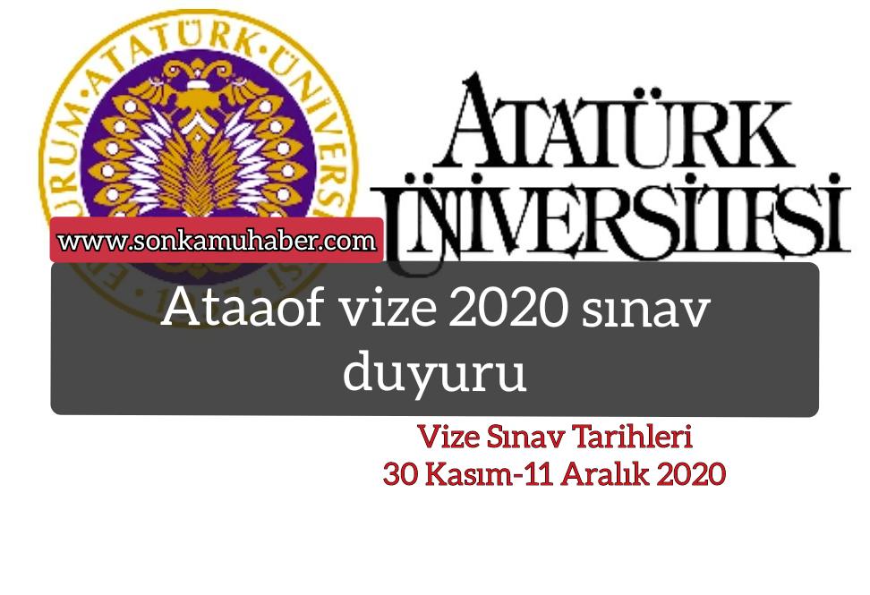 Ataaof; vize 2020 sınava girecek öğrencilerine duyurusu