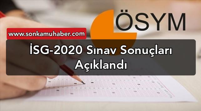 İSG-2020 Sınav Sonuçları Açıklandı