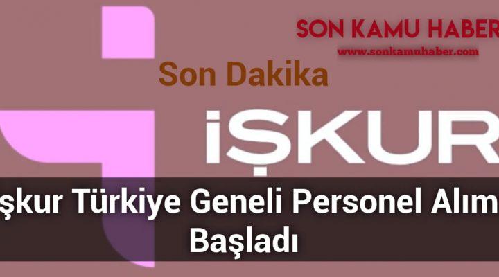 İşkur Türkiye Geneli Personel Alımı Başladı