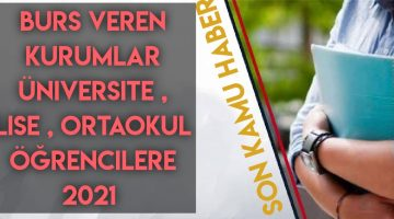 Türkiye burs veren kurumlar ve başvuru şartları