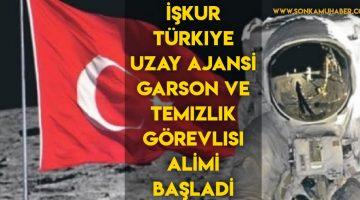 Türkiye Uzay Ajansı , Temizlik Görevlisi ve Garson Alımı yapıyor !