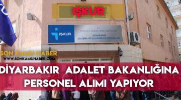 Adalet Bakanlığı , Diyarbakır 'da Temizlik Görevlisi alımı yapıyor