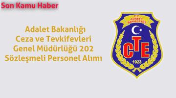 Adalet Bakanlığı Ceza ve Tevkifevleri Genel Müdürlüğü 202 Sözleşmeli Personel Alımı