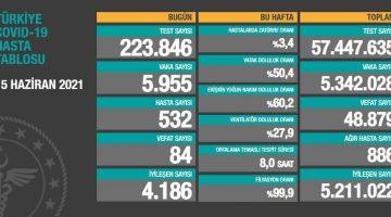 15 Haziran 2021 Türkiye Koronavirüs Tablosu Açıkladı