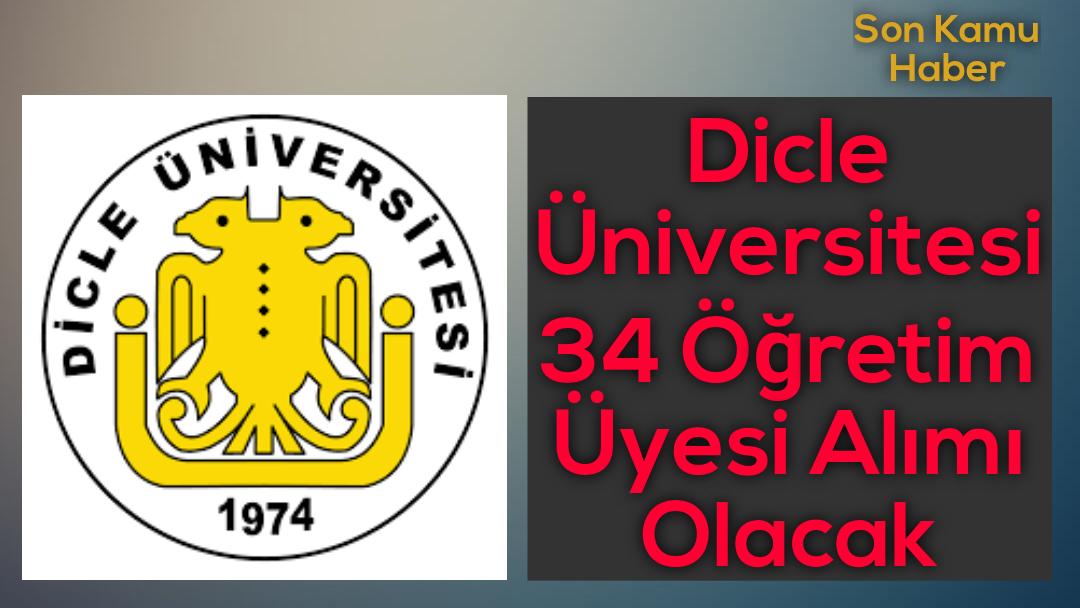 Dicle Üniversitesi 34 Öğretim Üyesi Alımı Olacak
