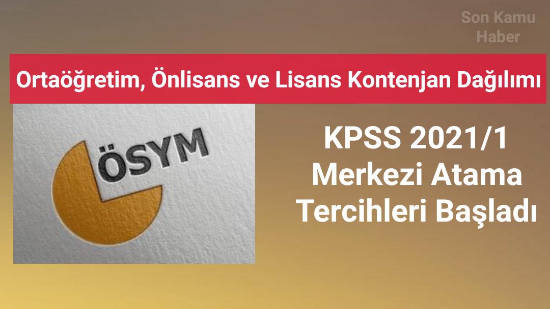 KPSS 2021/1 Merkezi Atama Tercihleri Başladı