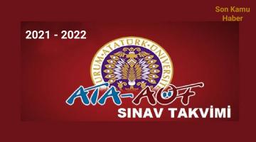 Atatürk Üniversitesi Açıköğretim Fakültesi 2021-2022 Eğitim-Öğretim Yılı Akademik Takvimi