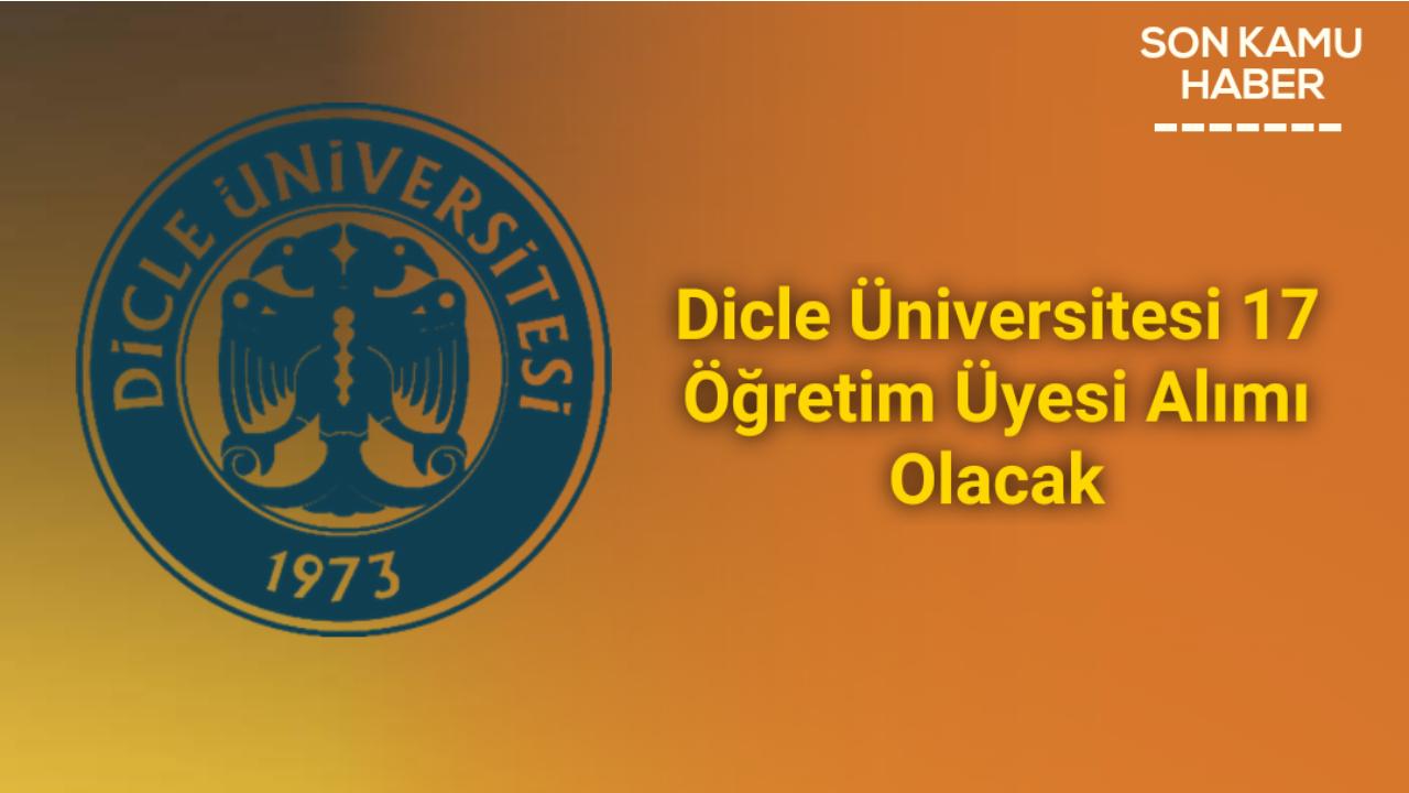 Dicle Üniversitesi 17 Öğretim Üyesi Alımı Olacak