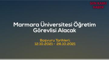 Marmara Üniversitesi 31 Öğretim Görevlisi Alacak